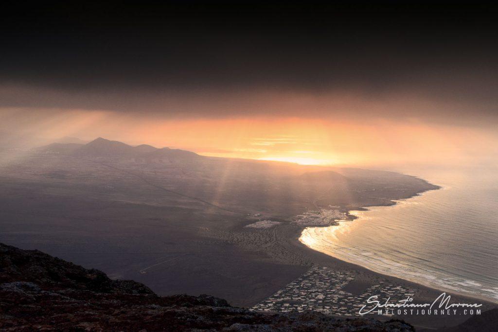 Vista dall'alto di Famara